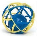 Boinky Babble Ball - Blue and Gold (Synthetic Rubber)<br>Item number: BK2: Dogs Toys and Playthings