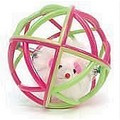 Boinky Kitty Ball - Pink and Green (Synthetic Rubber)<br>Item number: BK3: Cats