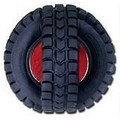 Blinky X-Tire Ball - Black and Red (Plastic): Dogs Toys and Playthings