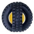 Animal Sounds X-Tire Ball - Black and Yellow (Plastic): Dogs Toys and Playthings