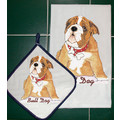 Breed Specific Dish Towel & Pot Holder Sets (A-C): Dogs For the Home Towels