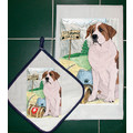 Breed Specific Dish Towel & Pot Holder Sets (P-Y): Dogs For the Home