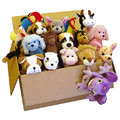 42-pc plush assortment<br>Item number: P1001: Dogs Toys and Playthings Plush Toys