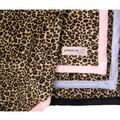 Cheetah Print Minky w/Solid Minky Backing: Dogs Beds and Crates