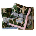Camouflage Minky W/ Plain Backing: Dogs Beds and Crates