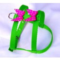 Embellished Polka Dots H-Harness: Dogs Collars and Leads Fabric