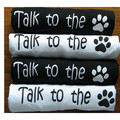 TALK TO THE PAW Unisex Human T-Shirt: Dogs Products for Humans Apparel