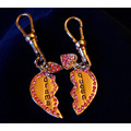 &quot;DRAMA QUEEN&quot; CRYSTAL BONE DANGLE CHARM PAIR<br>Item number: JT-001: Dogs Accessories Collar Charms