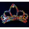 RAINBOW PRIDE CRYSTAL TIARA FUR BARRETTE<br>Item number: JR-007: Dogs Accessories