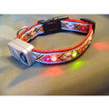 PREPPY ARGYLE LED LIGHTED DOG COLLAR - Adjustable: Dogs Collars and Leads Lighted
