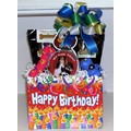 Double Dog Birthday Basket<br>Item number: K9CDBDY: Dogs Holiday Merchandise Birthday Items
