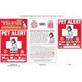 """Rescue Rover"" Pet Alert Fire Rescue Static Cling Window Decals: Dogs Health Care Products General Health Products"