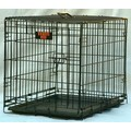 Single Door Folding Dog Crate Cage: Dogs Travel Gear Crates