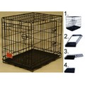 Double Door Folding Dog Crate Cage: Dogs Travel Gear