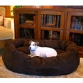 Suede Donut Bagel Pet Bed: Dogs Beds and Crates